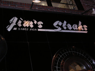 Jim's Steaks (sign outside)