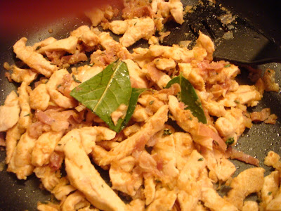 chicken with marsala, herbs, cheese, and breadcrumbs