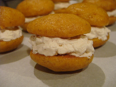 whipped cream filled pumpkin whoopie pies