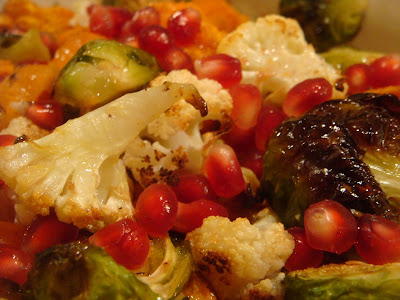 roasted vegetables with pomegranate vinaigrette