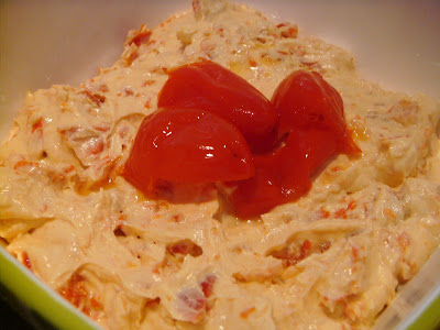 Peppadew goat cheese dip