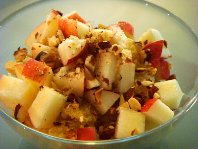 Quinoa With Almonds, Hazelnuts, And Apple Chunks
