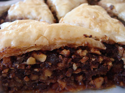 Chocolate-hazelnut baklava