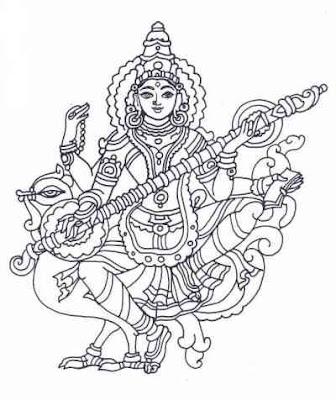 images of goddess saraswati. Image of Goddess Saraswathi