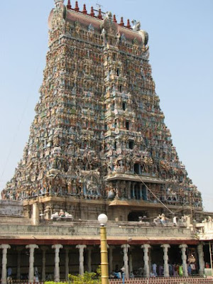 Temple Tower Madurai Meenakshi Temple Tamilnadu