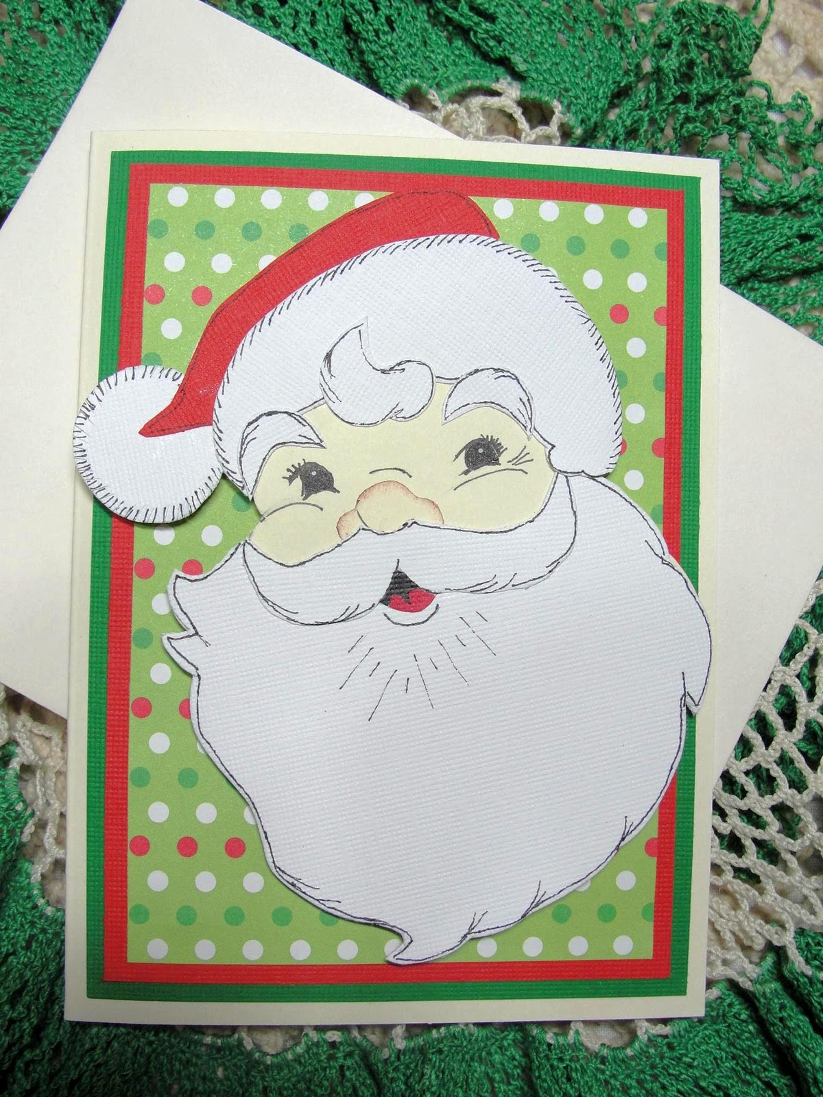 Kats Kreation Blog Handmade Greeting Card Christmas Santa Paper