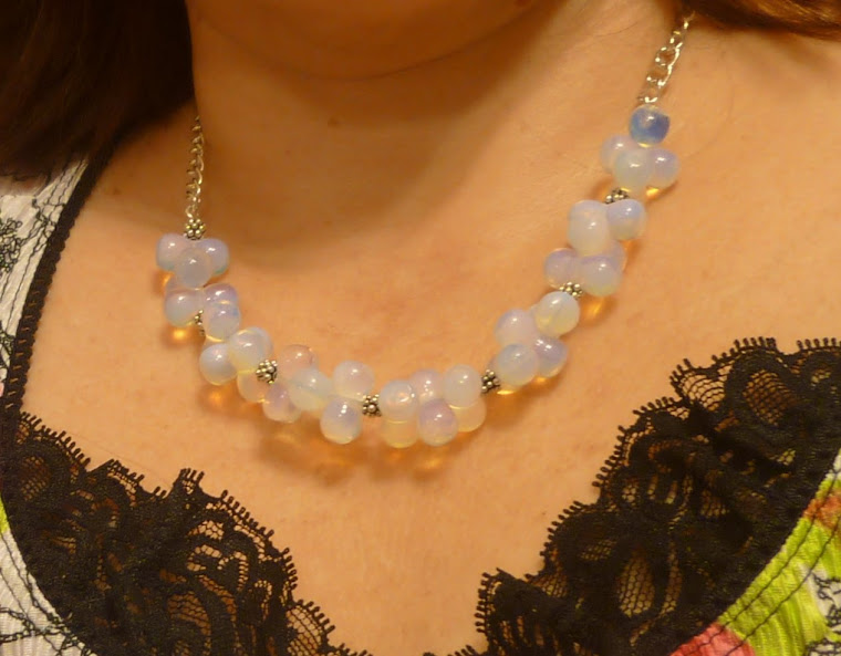 Opalite and sterling silver necklace