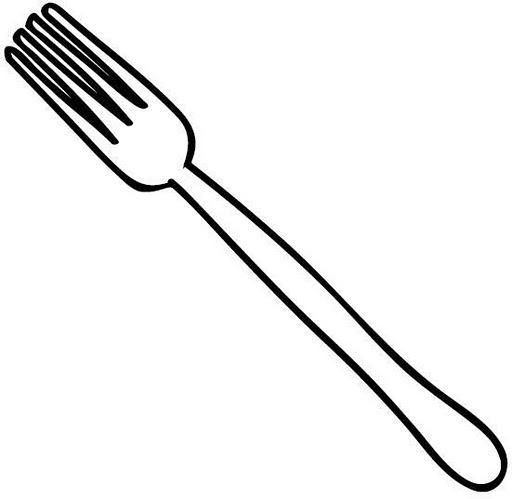 Dibujo de tenedor cuchara y cuchillo para pintar imagui for Tenedor y cuchillo en la mesa