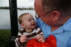 Kaleb loves his Grandpa Cribb