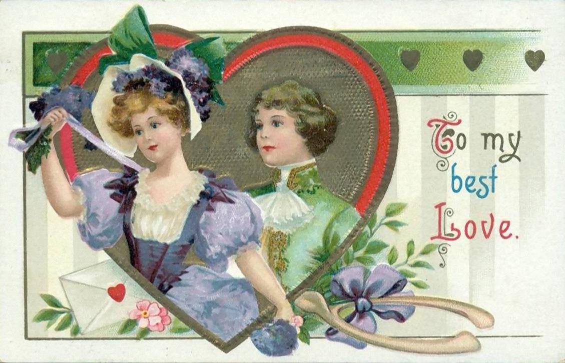 Картинки на ретро открытках 111