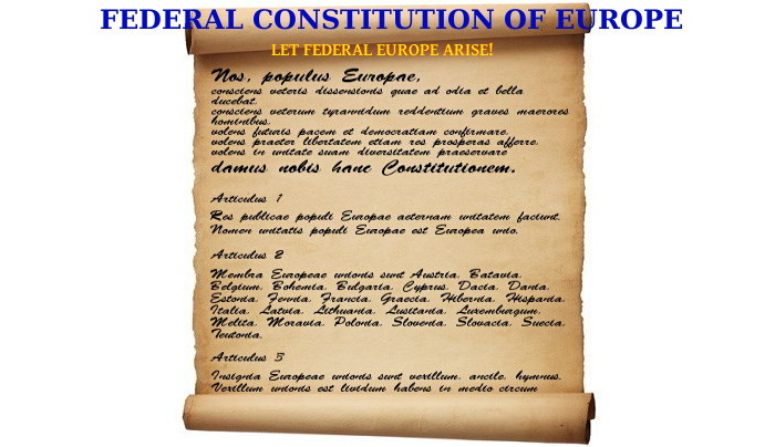Federal Constitution of Europe