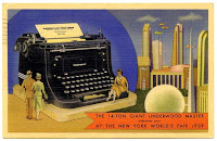 underwood typewriter postcard