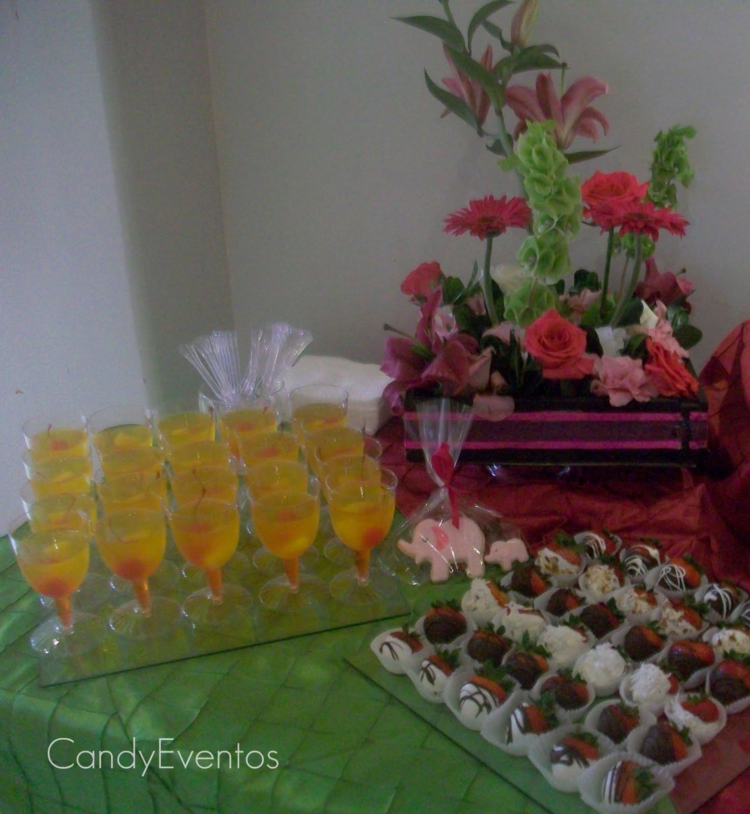Cherry Pasteleria Creativa Mesa de Postres para Baby Shower