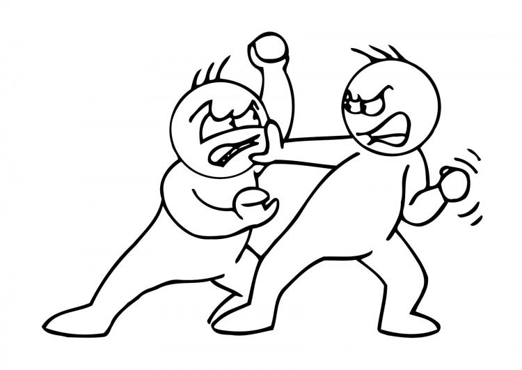 Imagenes para colorear de niños peleando - Imagui