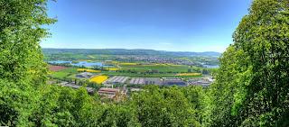 panoráma kilátás Zeil am Main domb dombtető