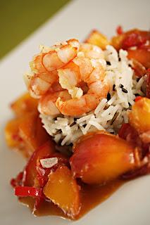chili gyömbér nektarin fokhagyma basmati rizs vadrizs garnéla garnélarák