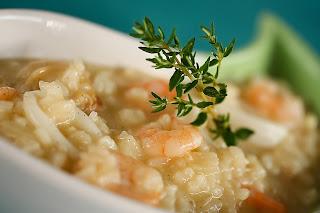 vanília fokhagyma rizottó risotto tengeri gyümölcs tenger gyümölcsei kagyló tintahal rák garnéla garnélarák parmezán