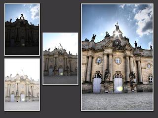 hdr suli pommersfelden schloss kastély nap átszűrődő fény
