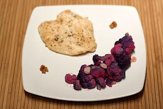 csirkemell fehérbor fokhagyma párolt lila karfiol