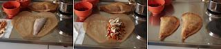 sügér en papillote pergamentben sült sütőpapírban sült hal vargánya gomba rókagomba gránátalma mag gránátalmamag kakukkfű