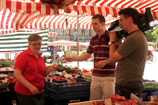 zöldséges erlangen piac forgatás kamera