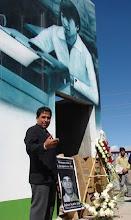 Mural en memoria de Jaime Ayala donde fue visto por ultima vez hace 25 años