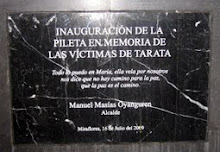 Homenaje a las vctimas del atentando terrorista en Tarata