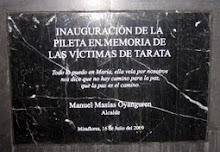Homenaje a las víctimas del atentando terrorista en Tarata