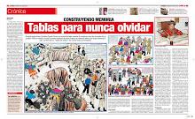 """Primitivo Evanán Poma dibuja la violencia interna en sus famosas """"Tablas de Sarhua"""""""