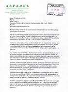 Junio 2010: ASFADEL Carta a CMAN por implementación de reparaciones a desplazados