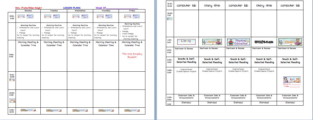 activity chart template