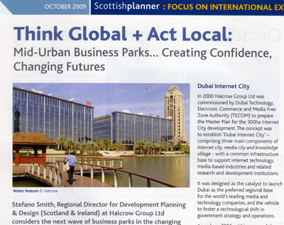 a great article of critical importance to the world of town planning