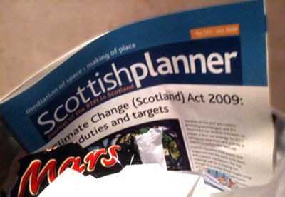 Scottish Planner in a bin