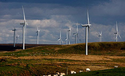 another fabulous picture of a windfarm improving the landscape at Whitelee, Renfrewshire