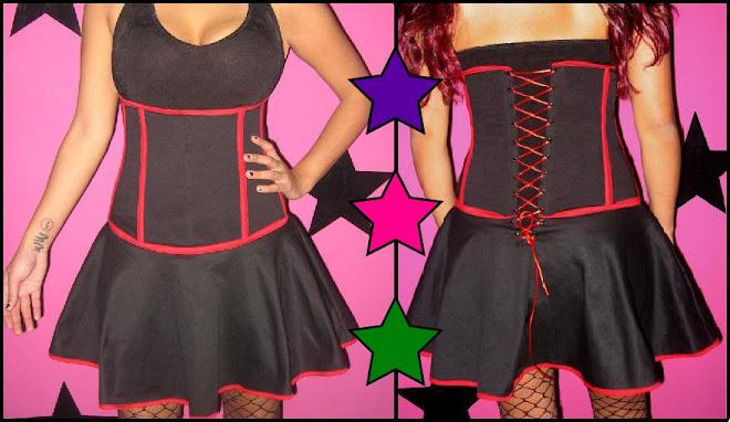 falda corset