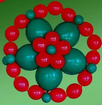 Decoracion con globos navidad - Decoracion de navidad con globos ...