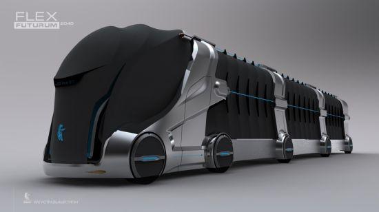 Conceito de veículo traz às estradas cargas flexíveis e energia limpa, além de of poluição