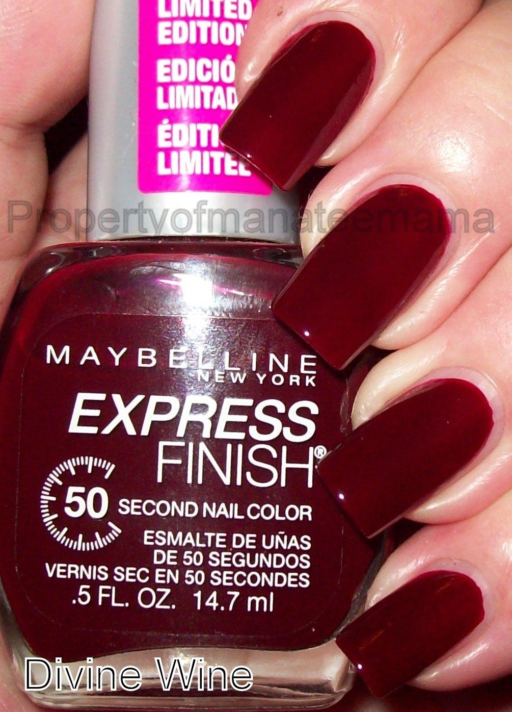 Maybelline Express Finish Nail Polish Divine Wine - Ad#: 1591257 ...