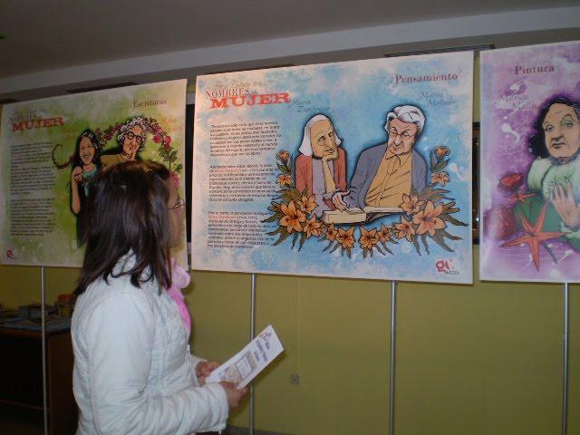 exposición arte y cultura con nombres de MUJER