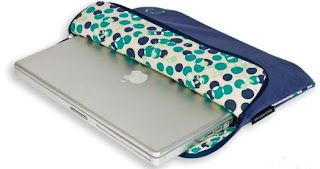 Melissa Beth Designs Velour Funk-tional Compartment Laptop Sleeve