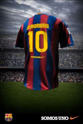 Camiseta del FCBarcelona personalizada para Jeronimo Perez en la final de Champions League 2008-2009 de Roma