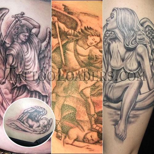 evil angel tattoos. tattoo guardian angel.
