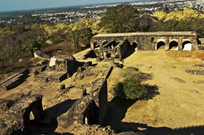 Posted by Vibha Malhotra : Madan Mahal - Watch Tower of the Past : View of the Ruins from the top of Madan Mahal