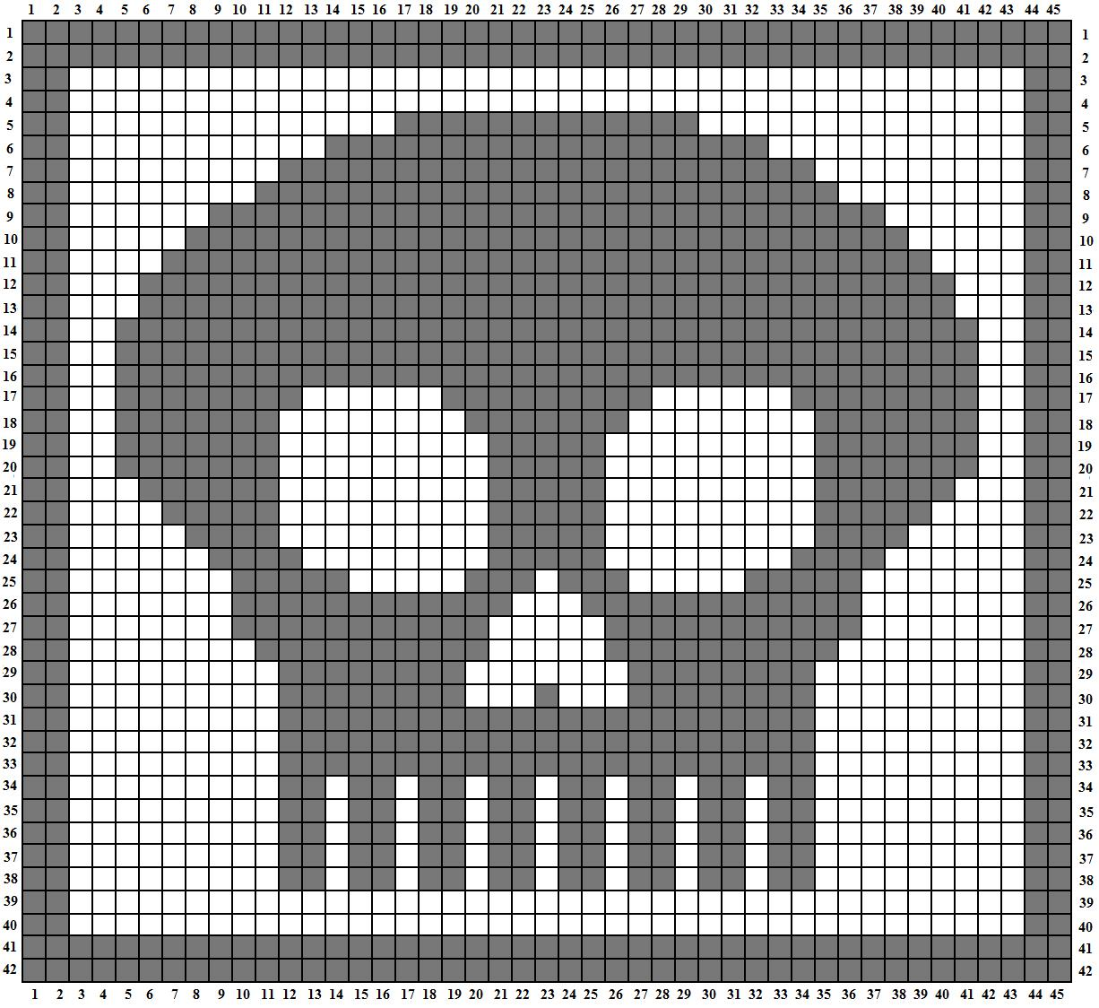 Skull a day 40 tutorial 2 filet crochet skull click this pattern to larger and easier to readfollow bankloansurffo Image collections
