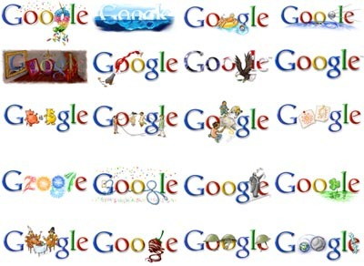 how to change the google logo to my name