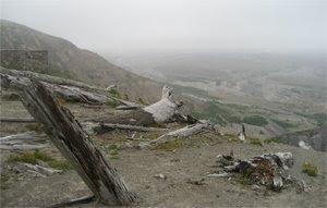 Utsikt över Mt St Helens, från näst sista utkikspunkten för allmänheten