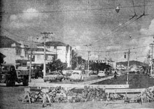 Avenida Afonso Pena em Santos, em 1970 - foto do jornal A Tribuna