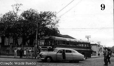 Foto antiga de Santos em 1956 - arquivo Policia Civil coleção de Waldir Rueda