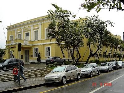 Prédio Histórico da Prefeitura de São Vicente na Rua Frei Gaspar 384