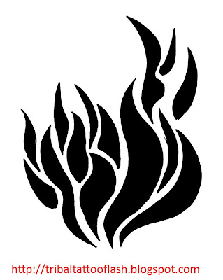 So My next to tattoo is a small flaming tattoo tribal filler section.